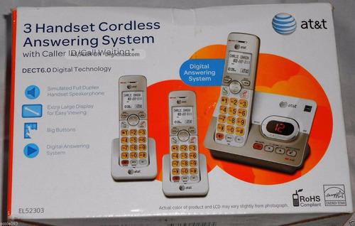 telefono at&t 3 auriculares el52303 ultima tecnologia