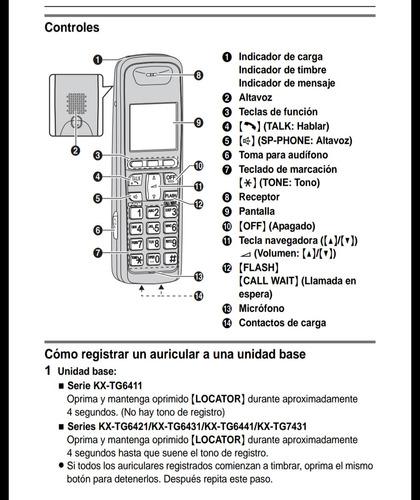 teléfono auxiliar panasonic kx-tga641. 95% nuevo