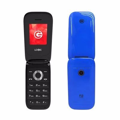 teléfono básico logic f2 1.8  dual sim, radio fm - blue