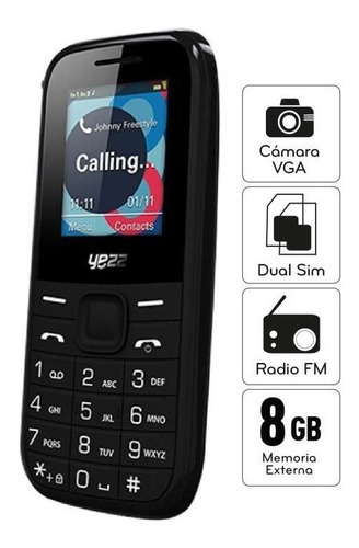 telefono basico yezz c21 radio/ dual sim / garantia/tienda