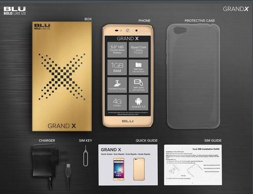 telefono blu grand x 5.0 android 6.0 + 5 mp + 8 gb tienda