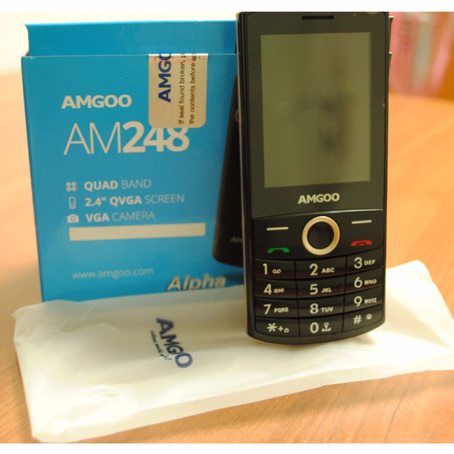 telefono celular amgoo am248 alpha somos tienda fisica