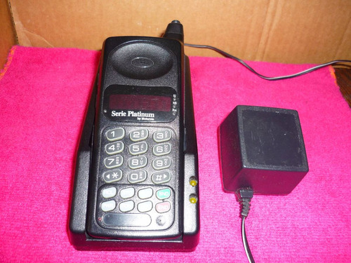 teléfono celular antigüo motorola serie platinum años 80's