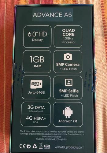 teléfono celular blu advance a6 android 7 somos tiend físic