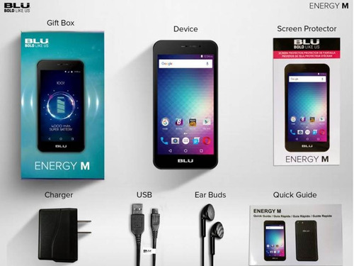 telefono celular blu energy m. memoria interna 8gb i 1gb ram