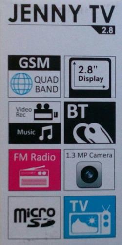 telefono celular blu jenny tv 2.8 dual sim liberado 1.3 mp