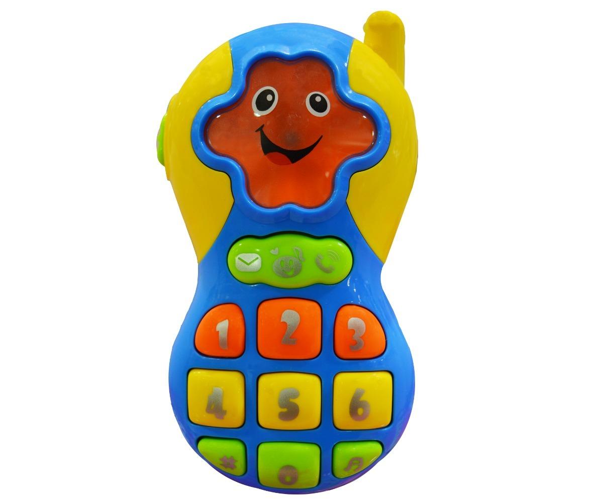 Teléfono Celular Didáctico Musical Luces Y Sonido Ok Baby