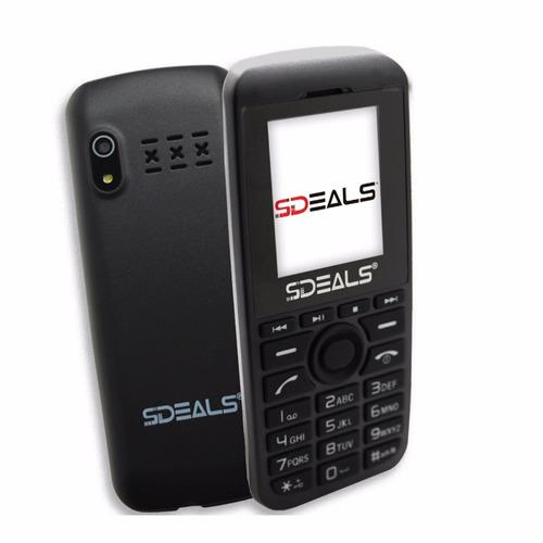 teléfono celular doble sim sdeals sd200 liberado mp4 negro