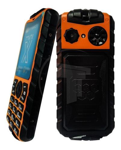 teléfono celular dual sim smooth snap mini x naranja