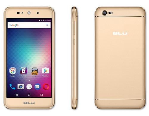 telefono celular marca blu grand x color dorado
