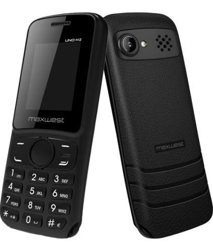 teléfono celular maxwest uno m2 flash doble sim negro d15