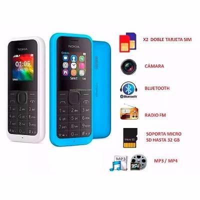 telefono celular nokia 105 doble sim mp3 camara tienda