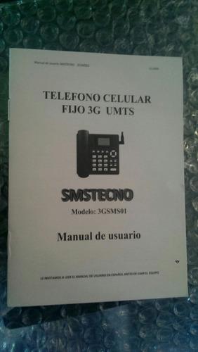 telefono celular rural fijo 3g, conector para antena yagi