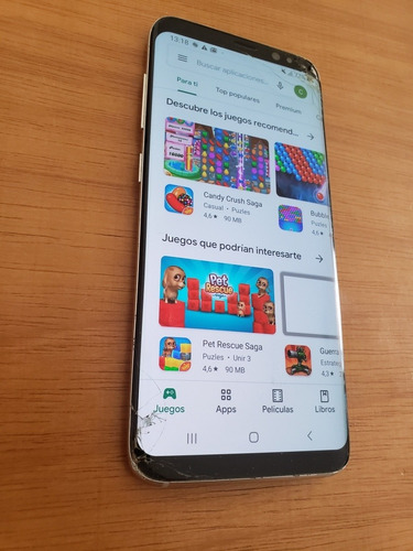 teléfono celular samsung galaxy s8 pantalla astillada antel