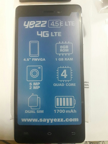 Telefono Celular Yezz Andy 4 5 Lte Android Smartphone Tactil