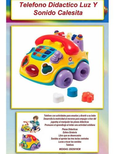 telefono con actividades enseña divierte a tu bebe calesita