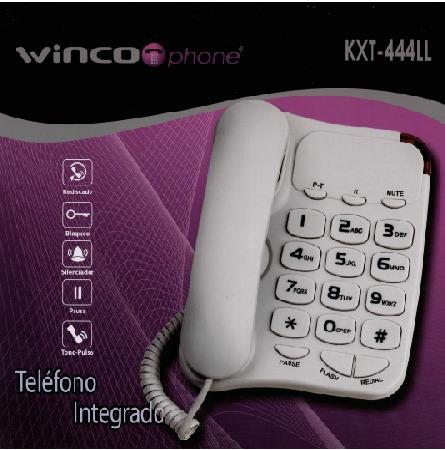 telefono con numeros grandes winco  ideal mayores luz bloque