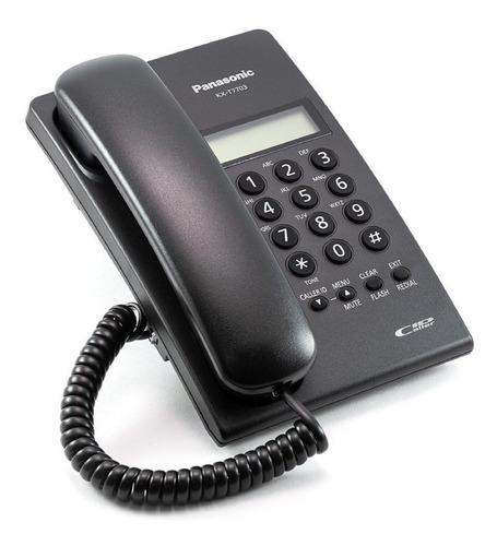 telefono  con pantalla, caller id, negro kx-t7703