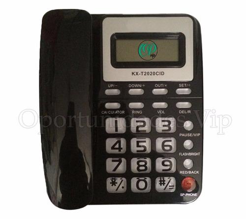 telefono con parlante e id de llamadas  numeros  grandes