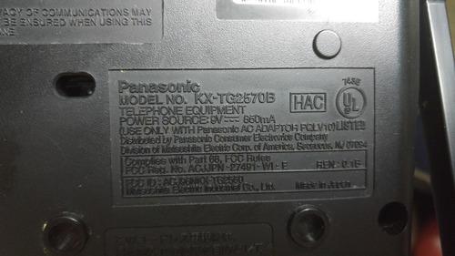 telefono contestador panasonic 2,4ghz  kx-tg 2570b