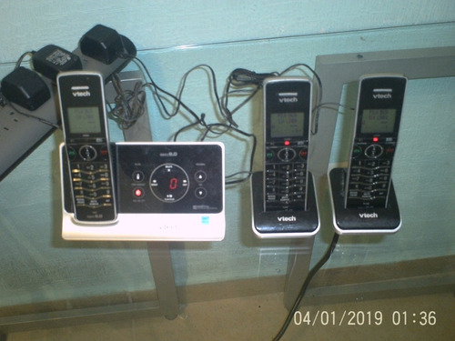 telefono / contestadora inalambrico 3 auriculares 6.0