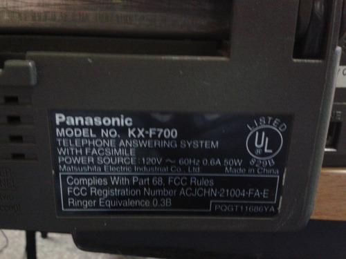 telefono contestadora y fax modelo kx-f700 marca panasonic