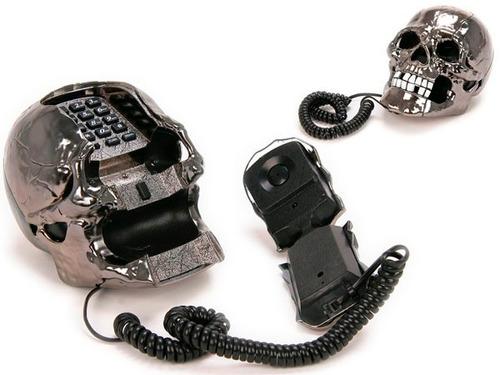 telefono de calavera, fijo, para casa, local  modelo unico