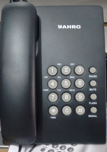 teléfono de mesa escritorio, pared, mute, flash