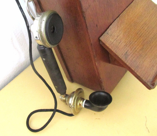 telefono de pared antiguo ericsson sweden de robleto magneto