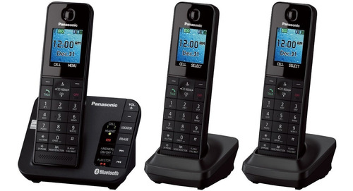 teléfono digital con 3 extensiones panasonic kxtgh263b