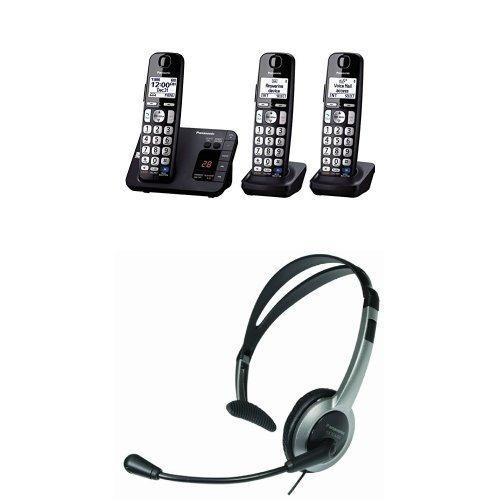 teléfono digital inalámbrico expansible panasonic kx-tge233b