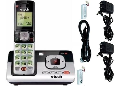 telefono doble inalambrico con contestadora identificador de llamadas y altavoz expandible vtech