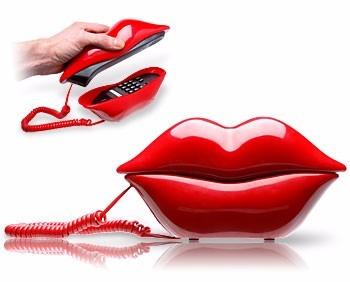 telefono en forma de labios rojos sexys ideal para tu estilo