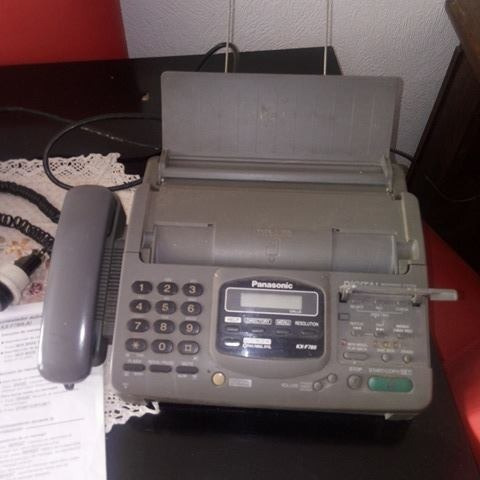 telefono fax -panasonic kx f780
