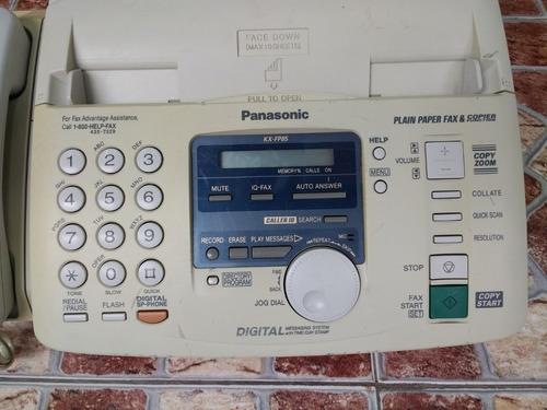telefono fax panasonic kx-fp85  incluye contestadora id call