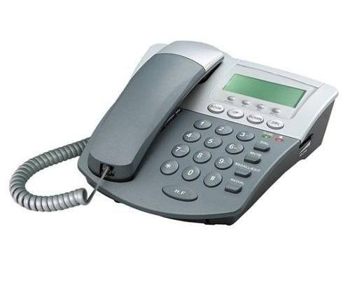 teléfono fijo alambrico con identificador de llamada