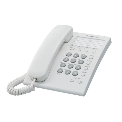 teléfono fijo alámbrico panasonic kx-ts550mew