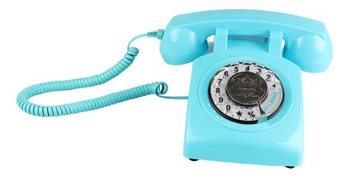 teléfono fijo de negocio oficina estilo retro con dial