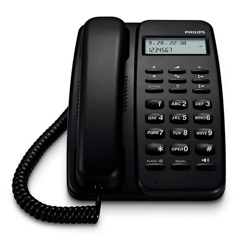 telefono fijo philips crd150b/77 negro