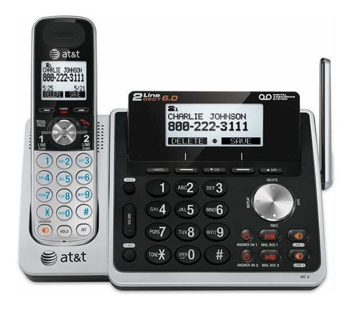 teléfono inalámbrico 2 líneas at&t tl88102