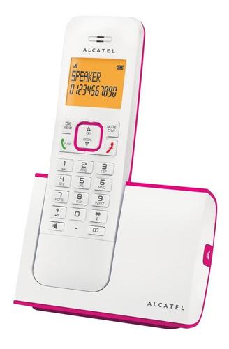 telefono inalambrico alcatel rosa