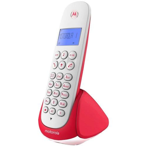 telefono inalambrico blanco con rojo m750r motorola