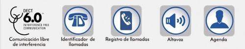 teléfono inalámbrico dect 6.0 con 2 extensiones adicionales