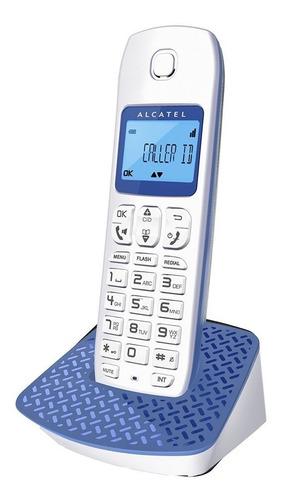 telefono inalambrico e192 color azul marca alcatel