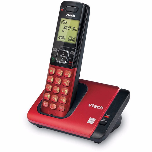 teléfono inalambrico identificador altavoz rojo vtech