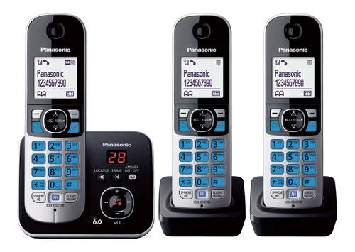 telefono inalámbrico panasonic 3 auriculares kx-tg6823