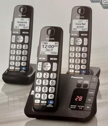 teléfono inalambrico panasonic + 3 unidades + dect 6.0 + new