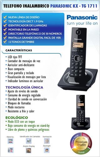 telefono inalambrico panasonic c/captor 1 año garantia