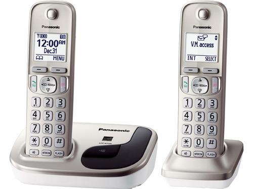 telefono inalambrico panasonic doble dect 6.0 tgd212