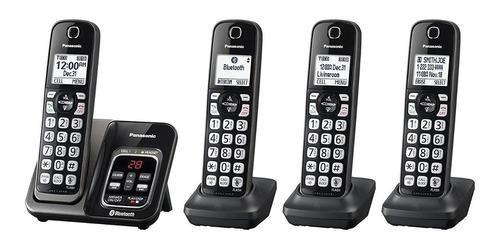 telefono inalambrico panasonic kx-tg744sk 4 auriculares